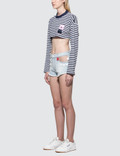 GCDS Stripe Crop Top