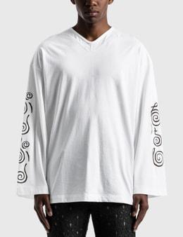 """Sasquatchfabrix. """"CHICHIN-PUI-PUI"""" Flare Cutsewn Long Sleeve T-shirt"""