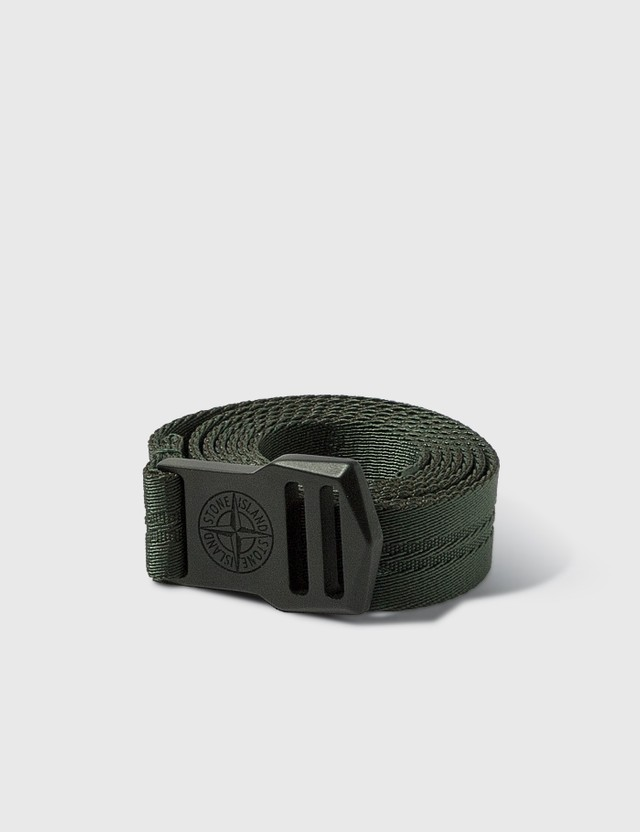 Stone Island Compass Logo Belt Muschio Men