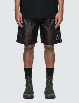 Marcelo Burlon Logo Zipped Shorts