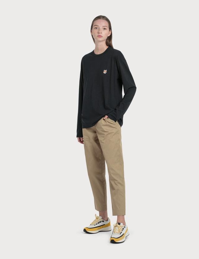 Maison Kitsune Fox Head Patch Long Sleeve T-Shirt