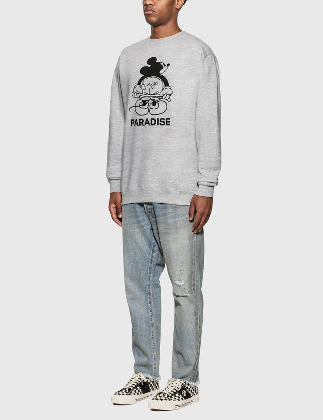 Paradise NYC Mickey Moon Sweatshirt Gray Men