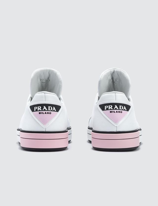 Prada Logo Leather Sneakers