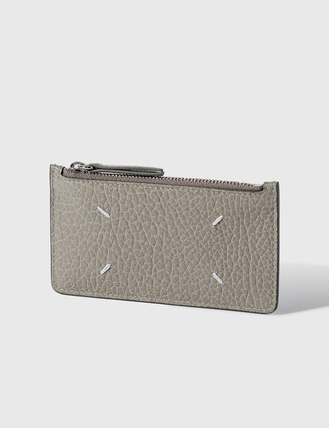 Maison Margiela Grain Leather Zip Card Holder