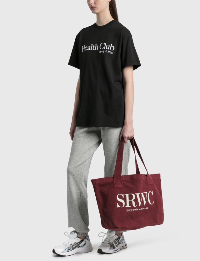 Sporty & Rich Upper East Side Tote Merlot/cream Women