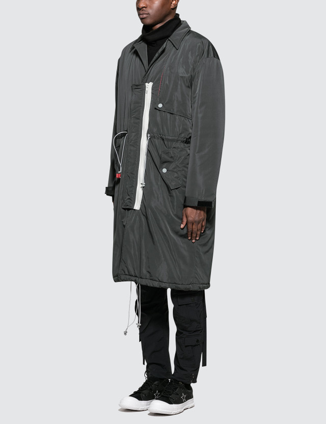 C2H4 Los Angeles Lightweight  Down Trench Coat