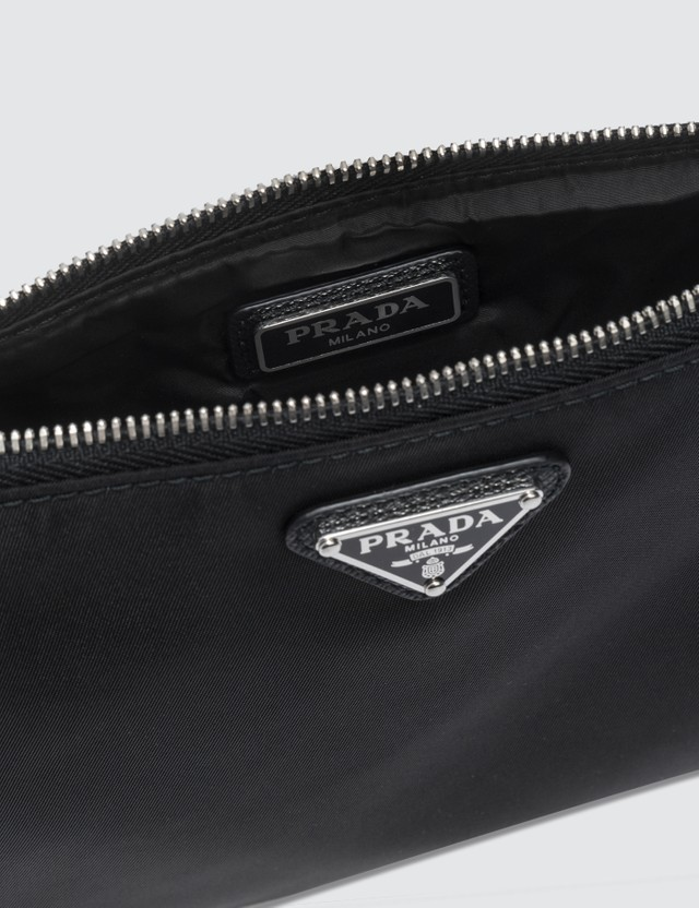 Prada Tiangle Logo Nylon Pouch