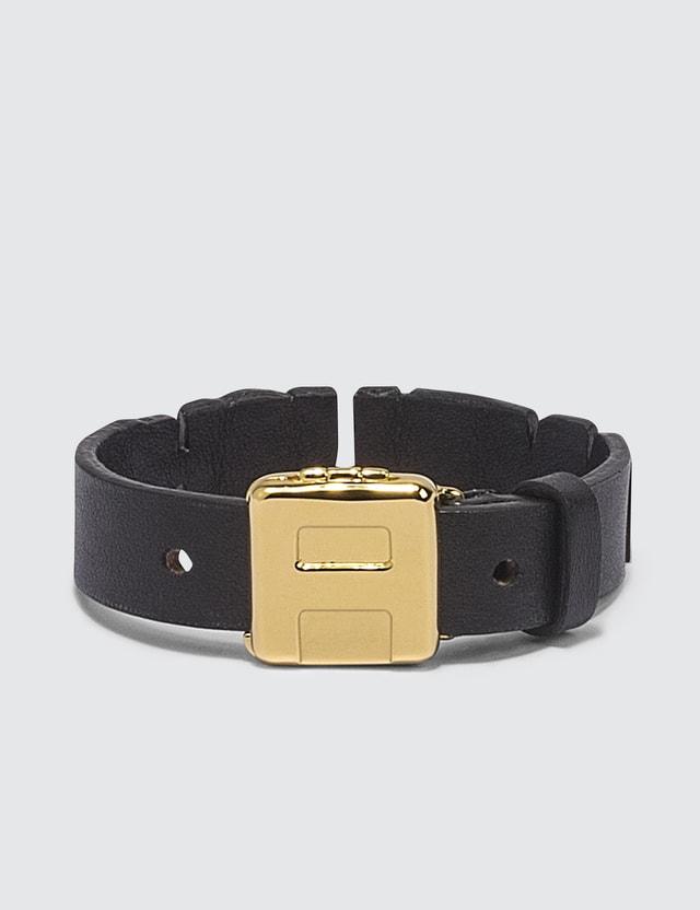Ambush Leather Nameplate Bracelet