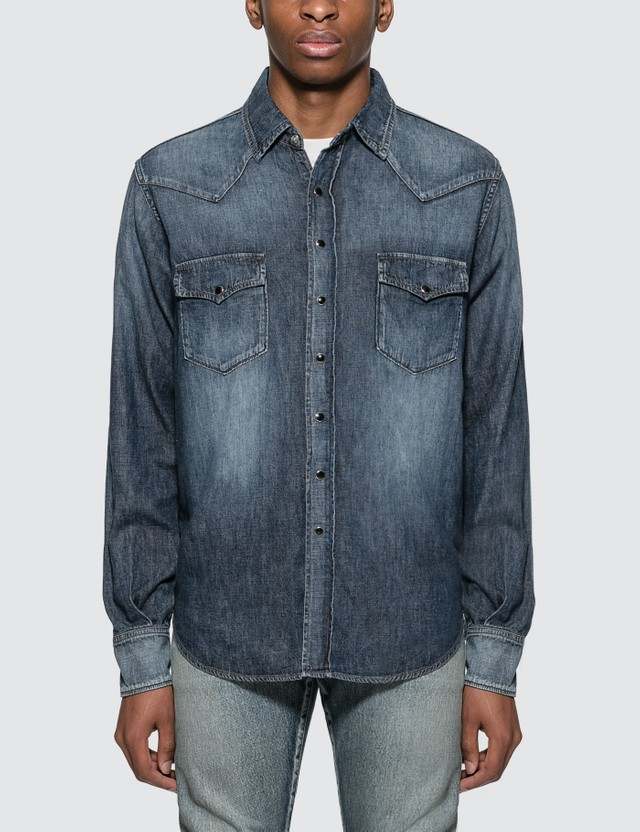 Saint Laurent Western Style Shirt