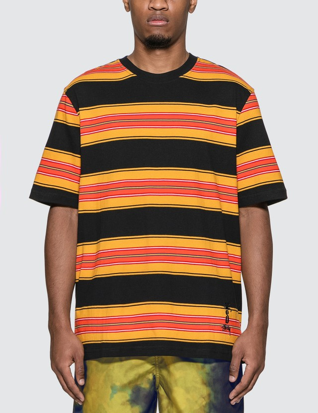 Stussy Multi Stripe Crew T-Shirt