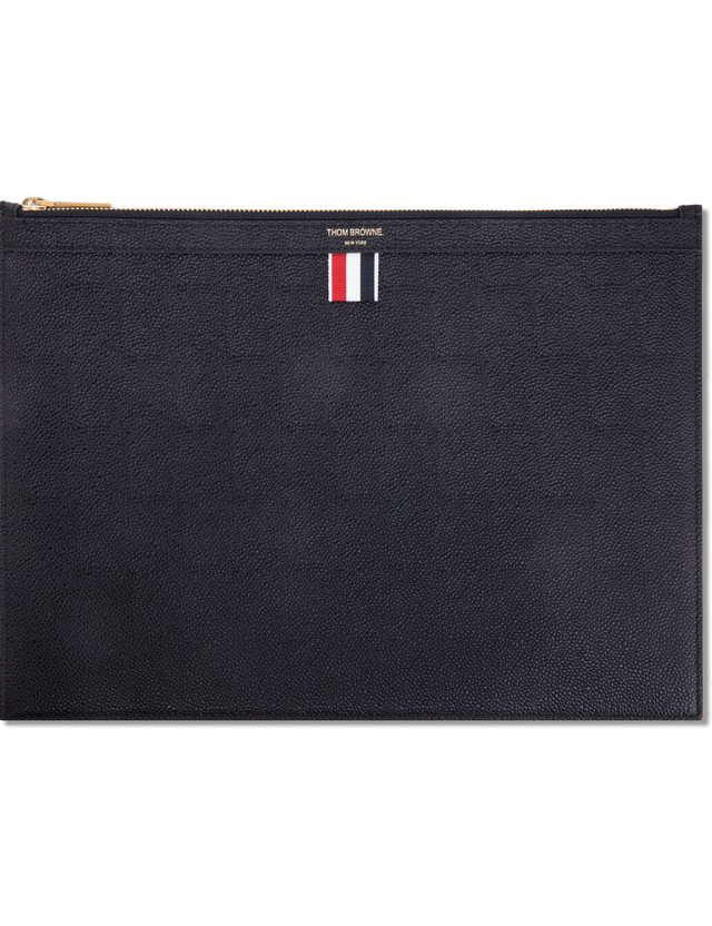 53620f4a48 Thom Browne - Pebble Grain Leather Medium Zipper Document Holder (A4 ...