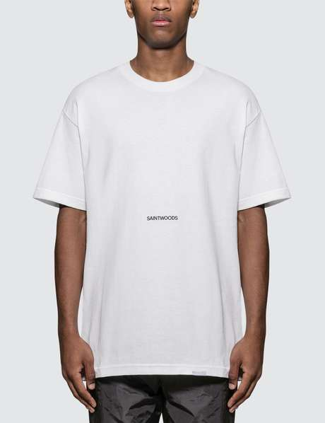 cedd8facf60cbb Saintwoods · Saintwoods Logo Print T-Shirt