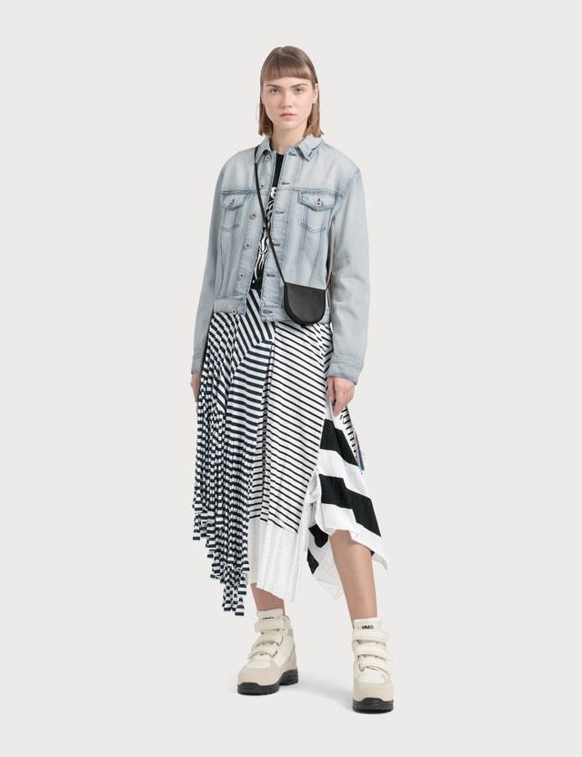 Loewe Denim Jacket Knit Stripe Bands