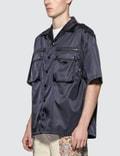 Prada Nylon Utility Pocket Short Sleeve Bowling Shirt
