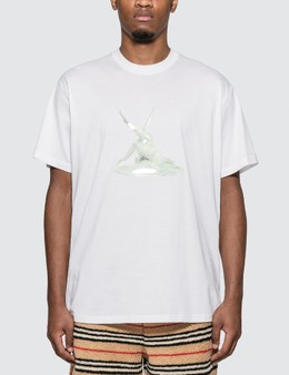 Burberry Cupid Print Cotton Oversized T-shirt