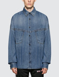 Palm Angels Logo Over Denim Shirt Picture