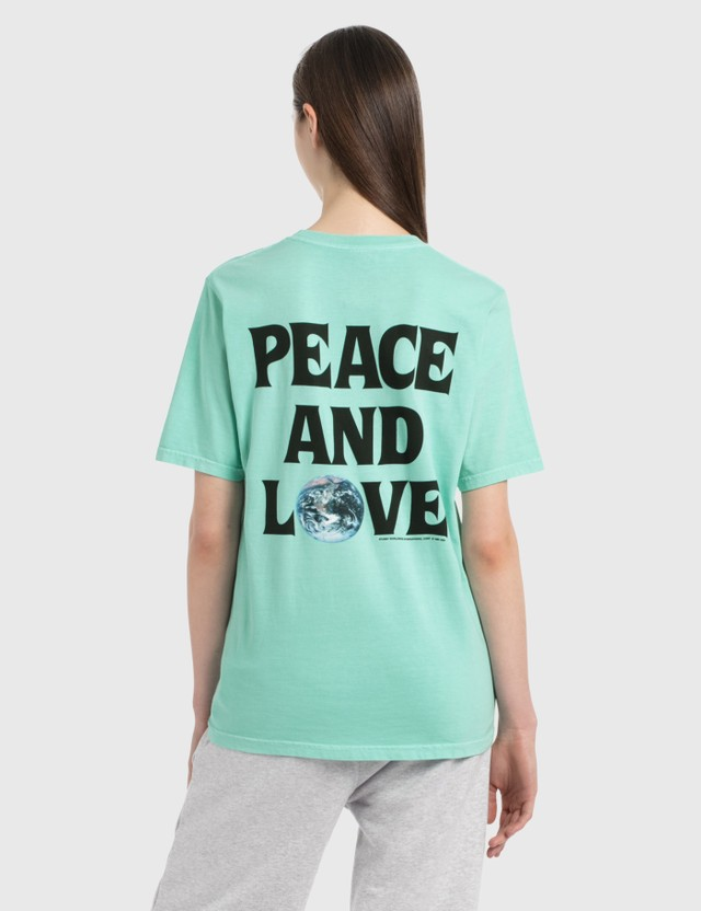 Stussy Peace & Love T-Shirt Aqua Women