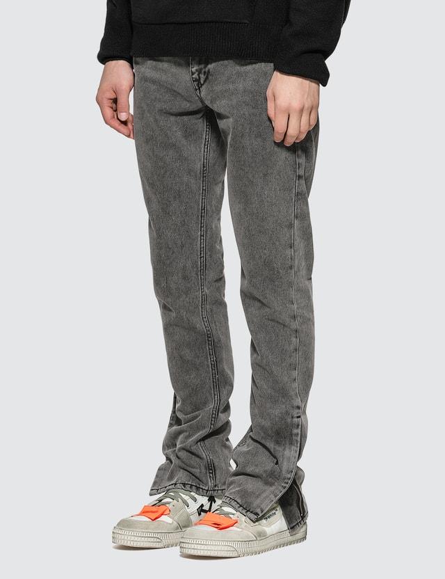 Off-White Slim Zip Jeans