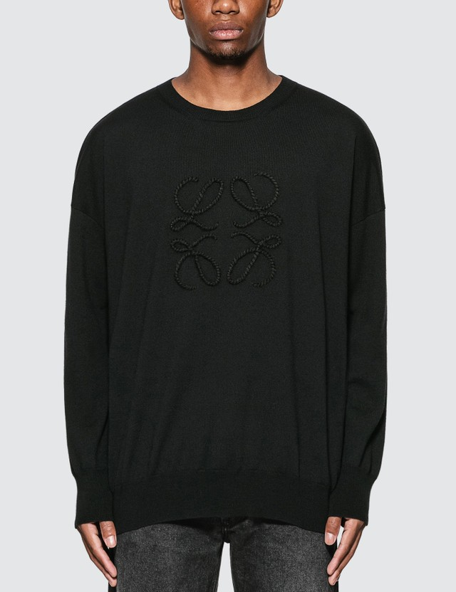 Loewe Anagram Stitch Sweater Black Men