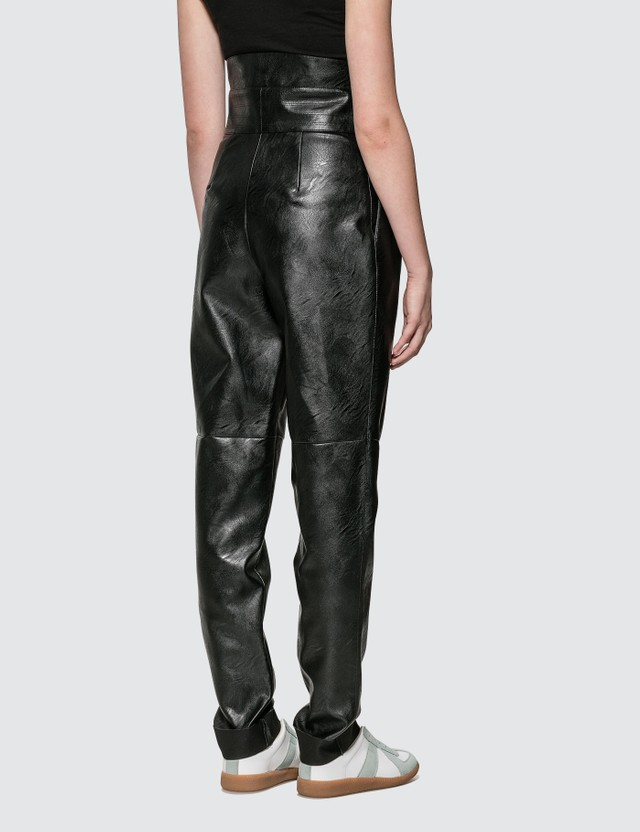 Maison Margiela High Waisted Fux Leather Pants