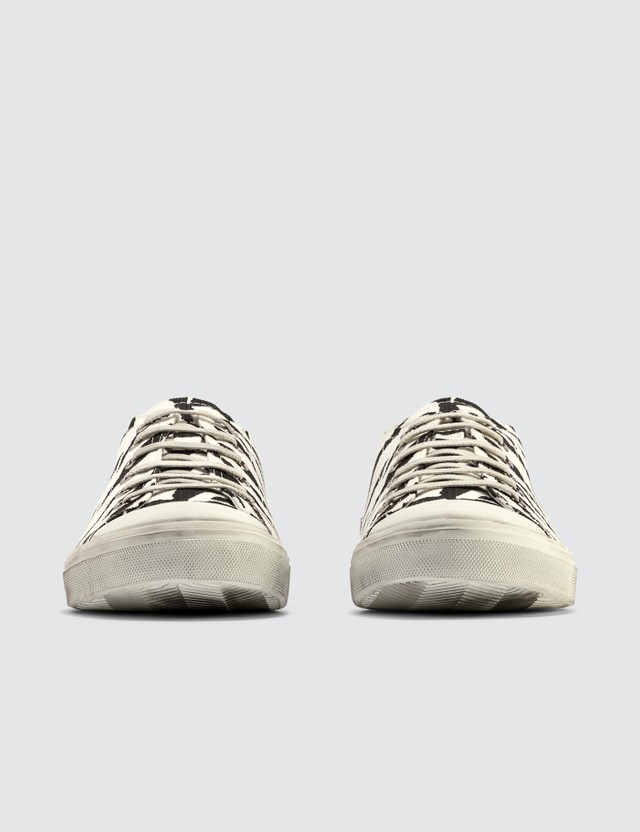 Saint Laurent Zebra Print Canvas Sneaker Zebra Men
