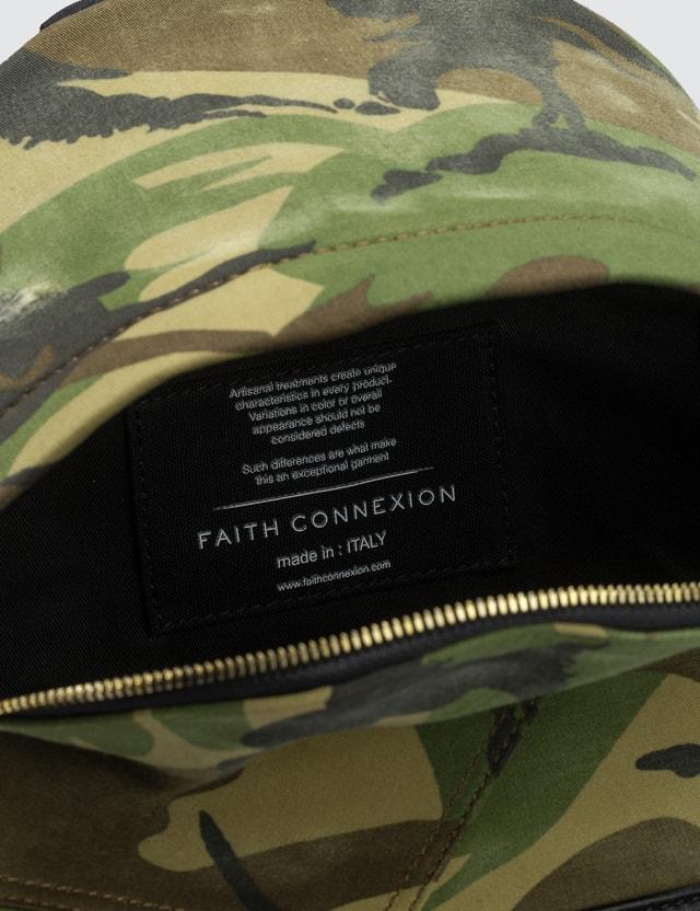 Faith Connexion Camo Chain Detail Backpack