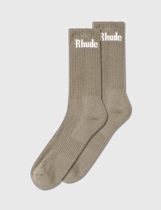 Rhude Solid Logo Socks