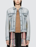 Loewe Denim Jacket Knit Stripe Bands Picture