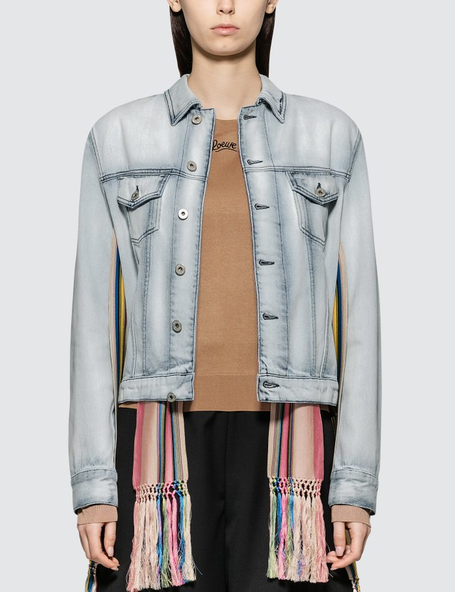Loewe Denim Jacket Knit Stripe Bands