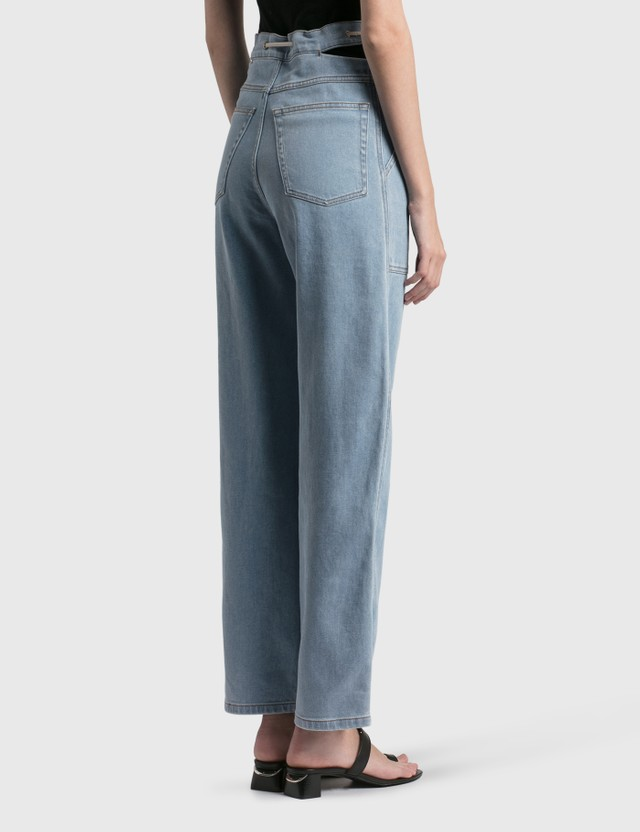 Nanushka Chace Barrel-Leg Jeans Light Blue Women