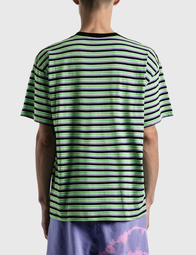 Aries Striped Temple T-shirt Grn Men