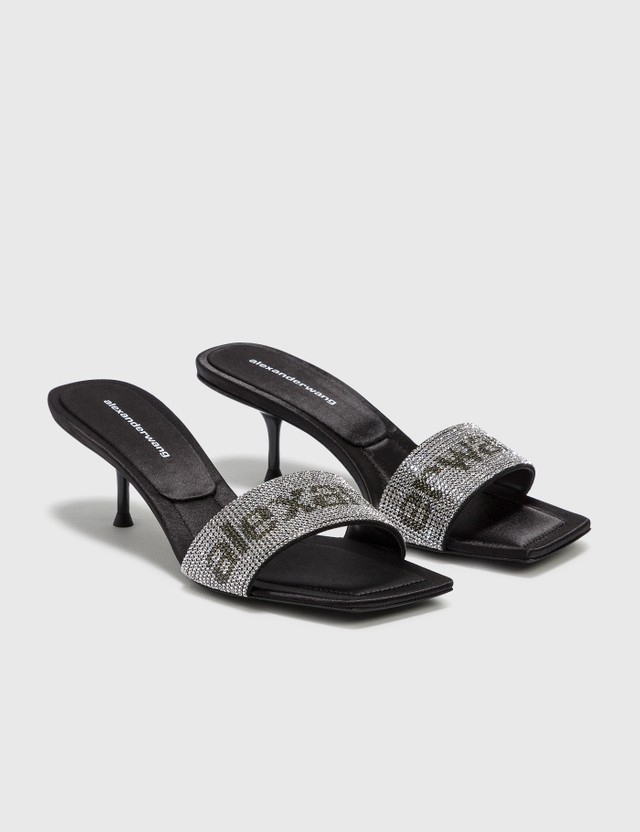 Alexander Wang Jessie Crystal Slide Black Women