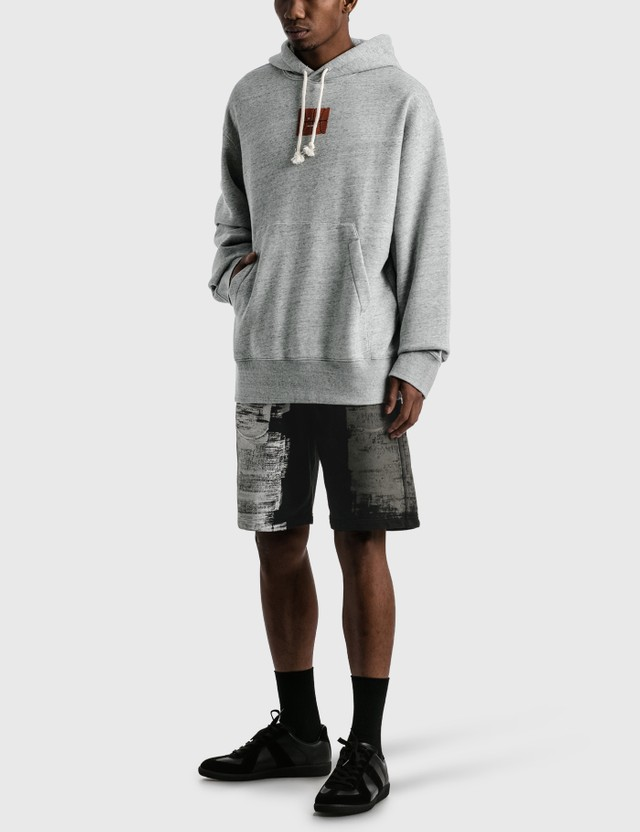 Acne Studios Fonbar Basketball Face Hoodie Grey Men