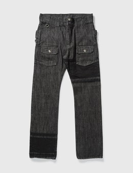 Mastermind Japan Mastermind Japan One Washed Back Double Waist Jeans