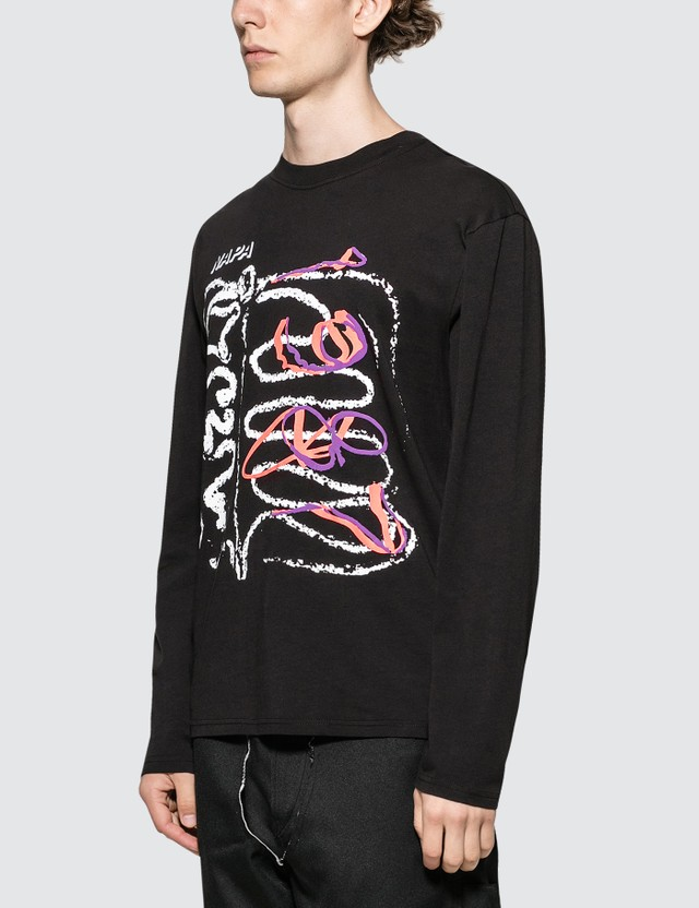 Napapijri x Martine Rose Abstract Drawing L/S T-Shirt Black Men