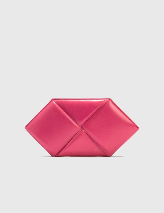 Bottega Veneta Maxi Intrecciato Nappa Leather Clutch Lollipop-gold Women