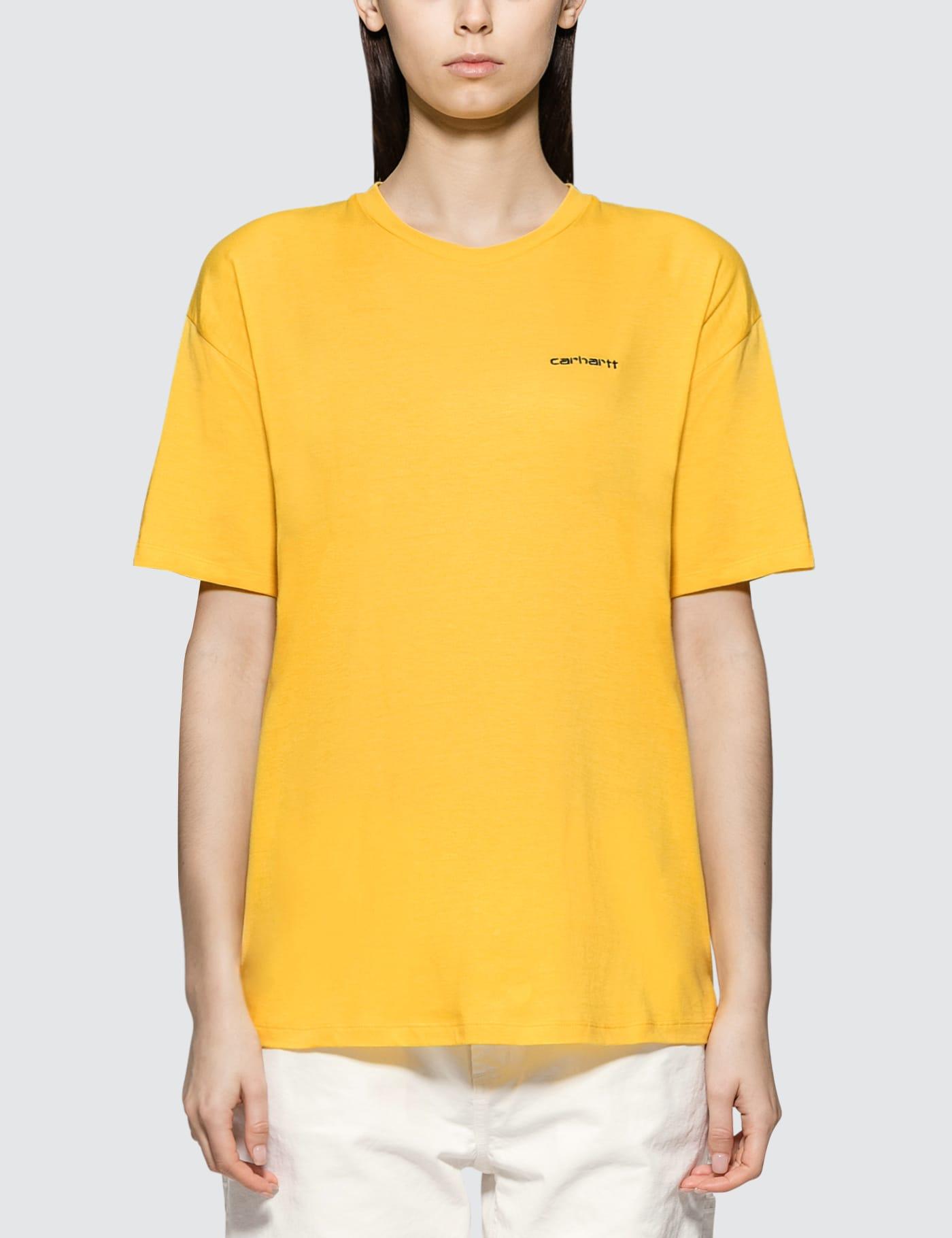 CARHARTT   Carhartt Work In Progress Script Embroidery Short Sleeve T-shirt   Goxip
