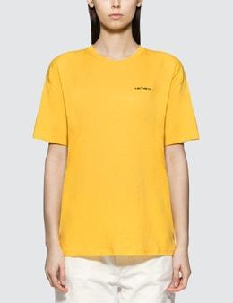Carhartt Work In Progress Script Embroidery Short Sleeve T-shirt