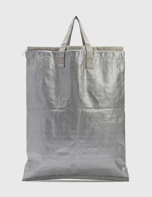 Comme des Garçons Cdg Silver Big Tote Bag Black Archives