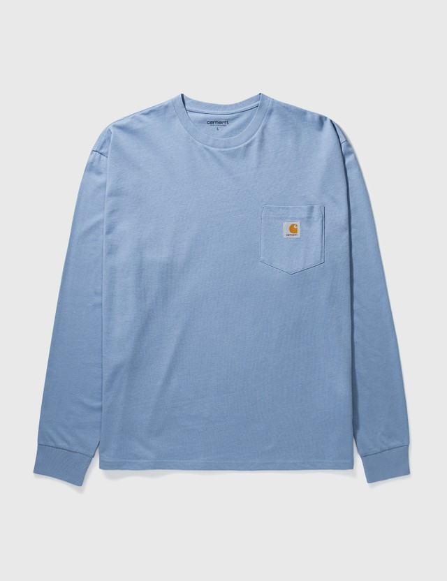Carhartt Work In Progress Pocket Long Sleeve T-shirt Wave Men