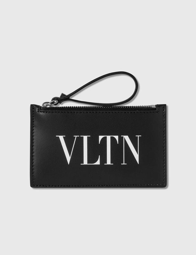 Valentino Valentino Garavani VLTN Zip Card Holder