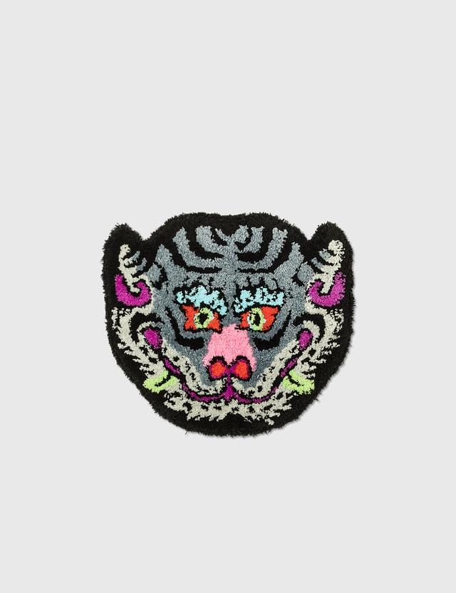 RAW EMOTIONS Mascot Tiger Head Rug Grey Life