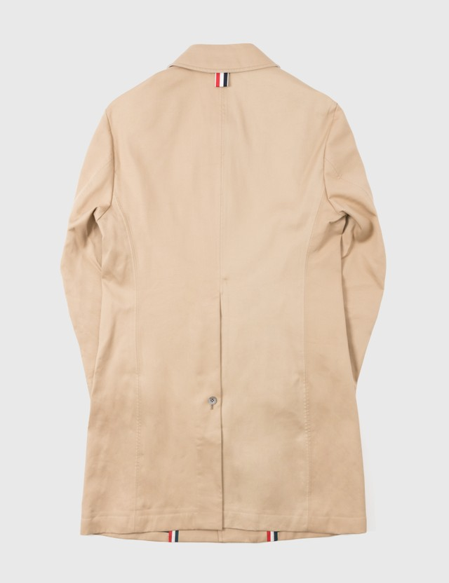 Thom Browne Thom Brown Trench Coat Beige Archives