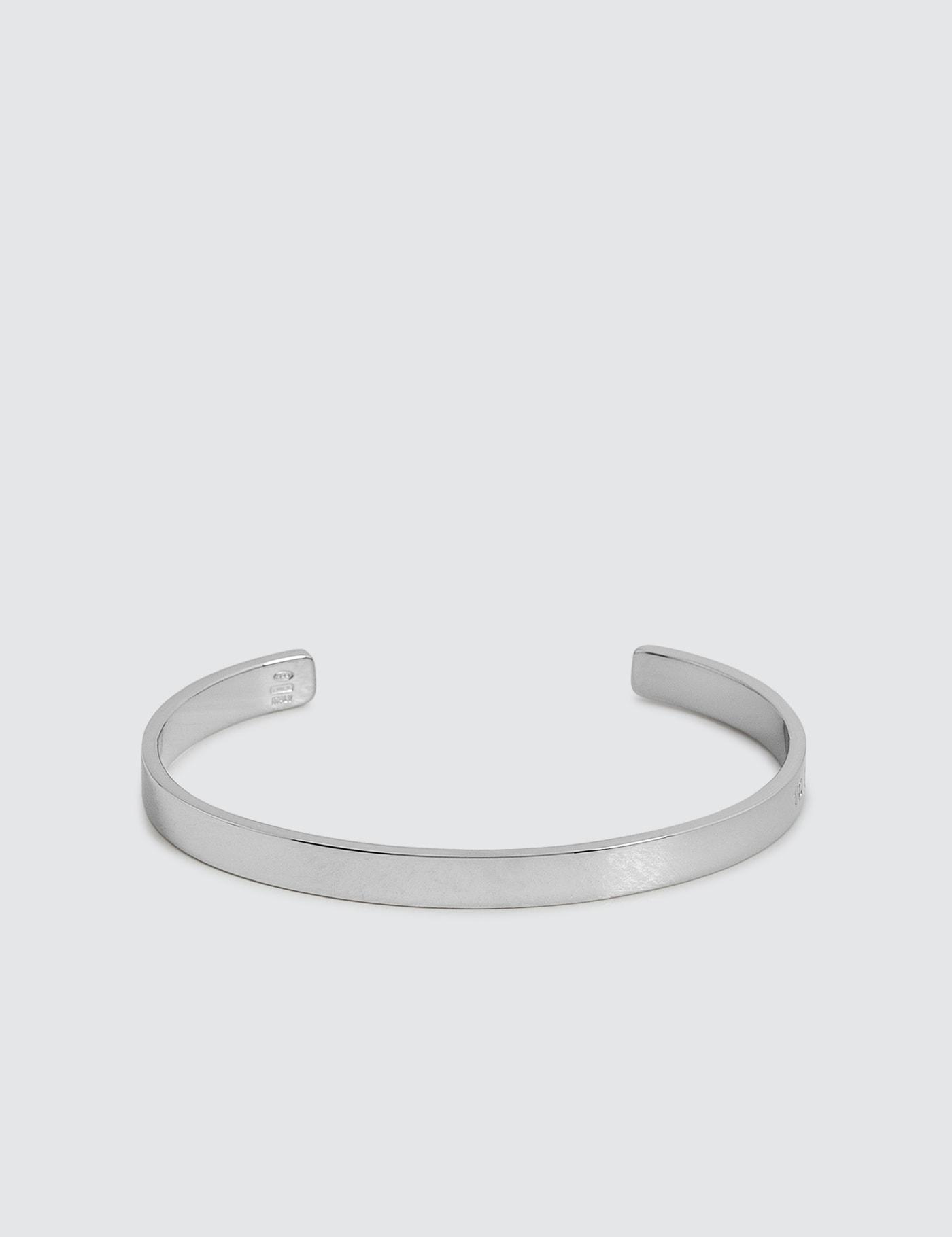 Logo Silver Bracelet
