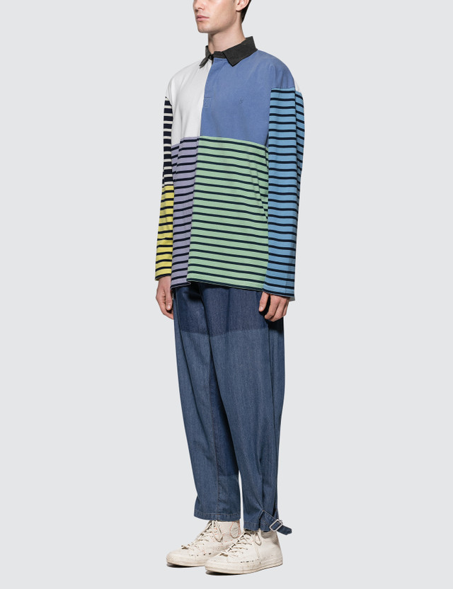 JW Anderson Shaded Fold Front Denim Trousers