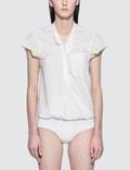 Alexander Wang.T Washed Cotton Poplin Bodysuit With V-neck