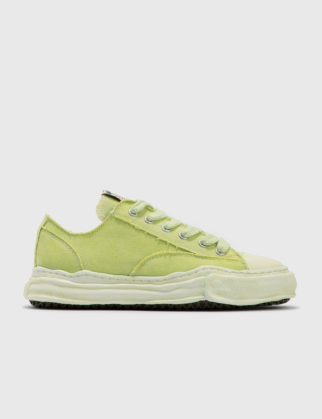 Maison Mihara Yasuhiro Original Sole Over Dyed Canvas Low Cut Sneaker Green Men