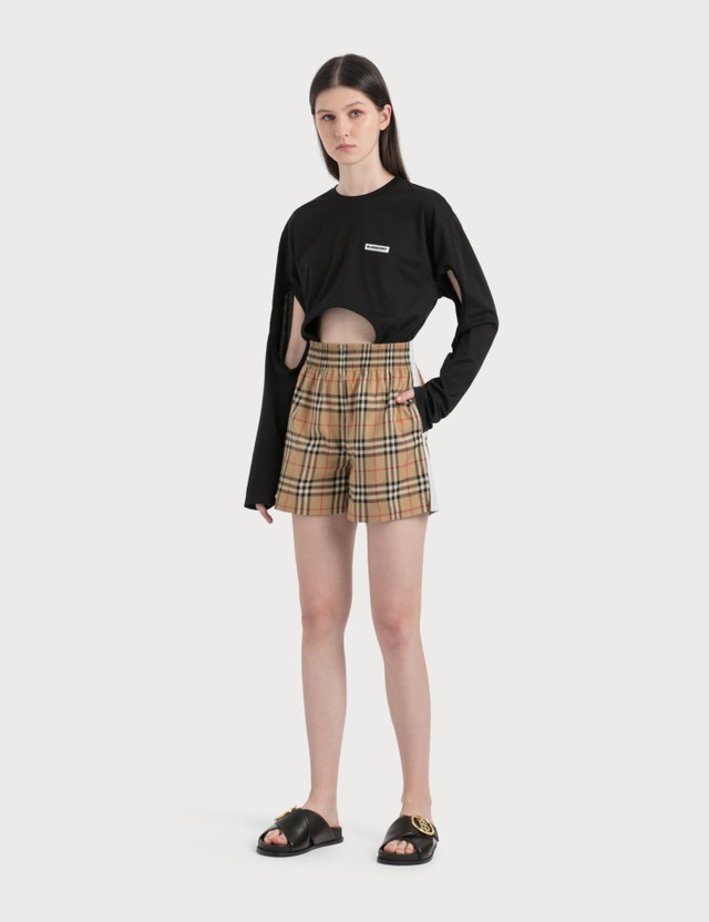 Burberry Vintage Check Stretch Cotton Shorts