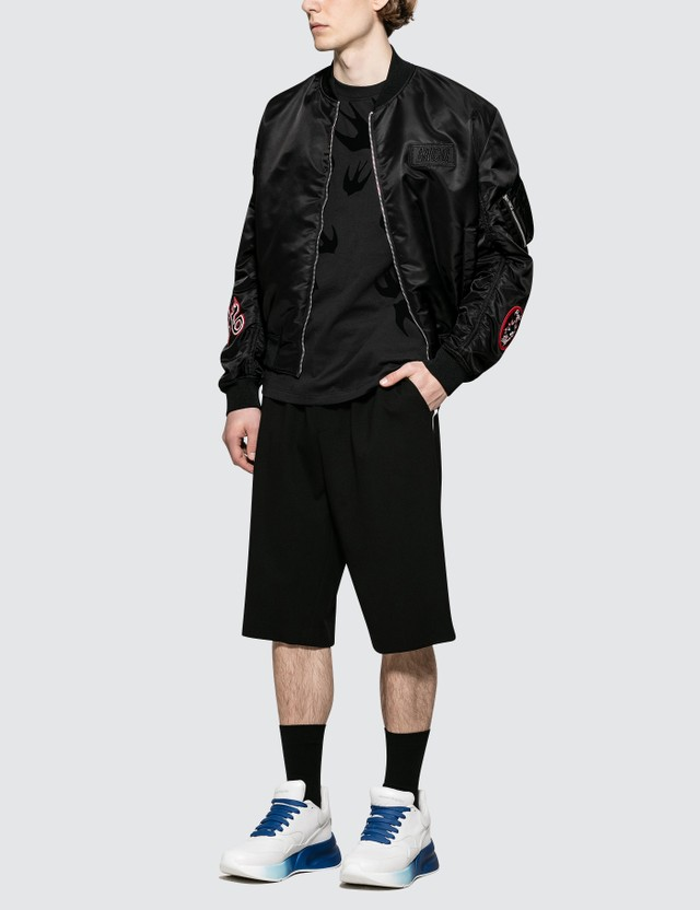 McQ Alexander McQueen Taped Ben Shorts Darkest Black Men