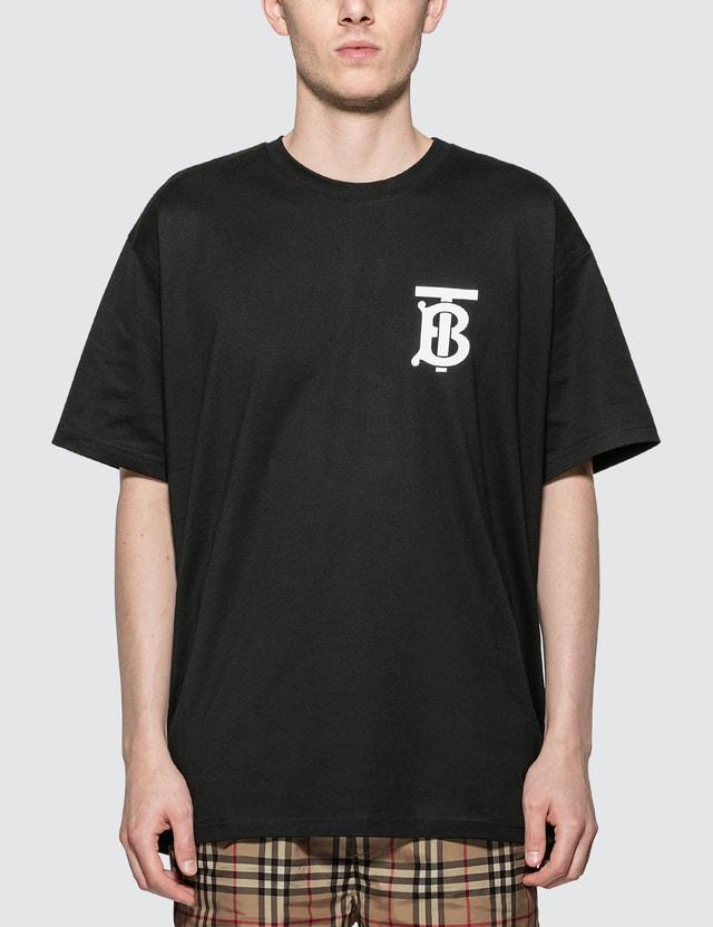 Burberry Monogram Motif Cotton T-shirt Black Men